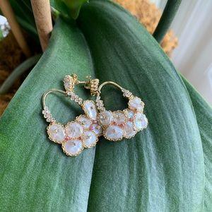 Natural Fresh Water Baroque Pearl Drop Earrings